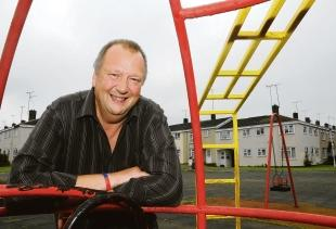 Basildon Recorder: Change – councillor Kevin Blake in the play area