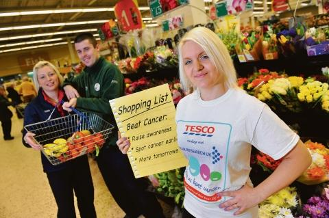 Campaign – Hayley Sneath shows her shopping list of goals to beat cancer