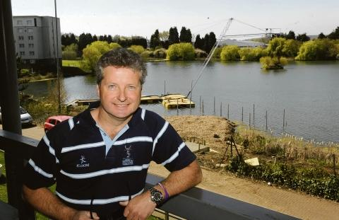 Up and flying – Patric Foley-Brickley surveys his new wakeboarding centre
