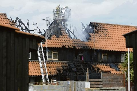 Fire crews battle house blaze on Felmores in Basildon