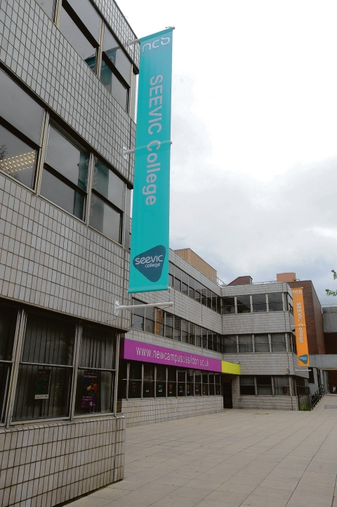Exciting –  the current SEEVIC campus, in Church Walk House, Basildon