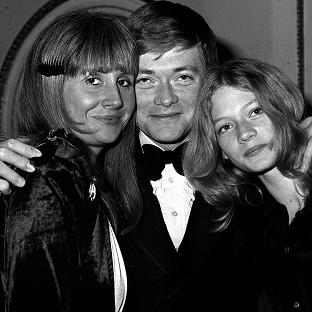 Simon Ward with wife Alexandra (left) and daughter Sophie at the October 1979 premiere of Zulu Dawn
