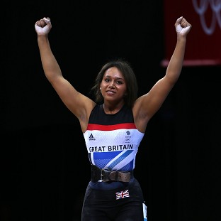 Zoe Smith, pictured, was emotional after beating Michaela Breeze's British weightlifting record