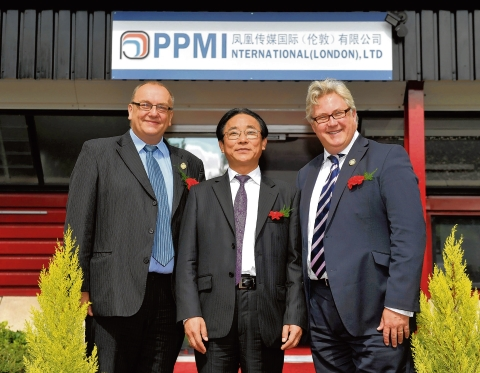 Basildon Council leader Tony Ball with PMI boss Mr Chen Haiyan and county councillor Kevin Bentley