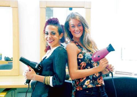 Elite opportunity – student stylists Chanelle Hewitt and Jessica James