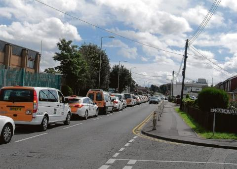 Cabs drive in procession from Benfleet to Pitsea crematorium