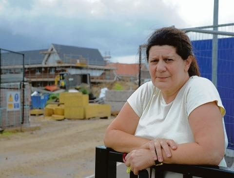 Moira Brock is fed up with the redevelopment delay