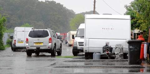 Never-ending battle – the caravans in Oak Lane which have been ordered to leave