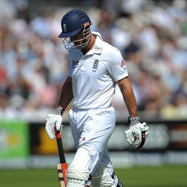 Andrew Strauss was dismissed early in his 100th Test for England