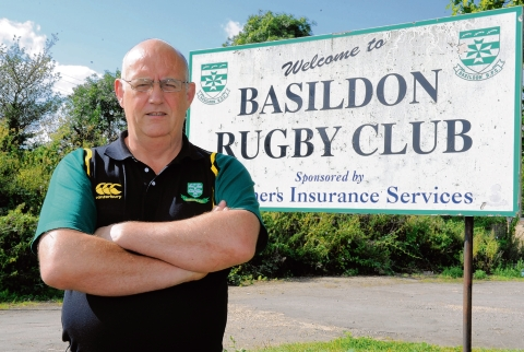 Frustrated – Dave Hare, chairman of Basildon rugby club