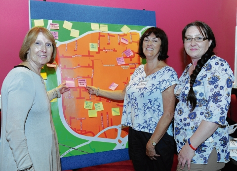 Councillor Terri Sargent, Basildon Council development services manager Pam McCarthy and Pitsea resident Sue Houghton