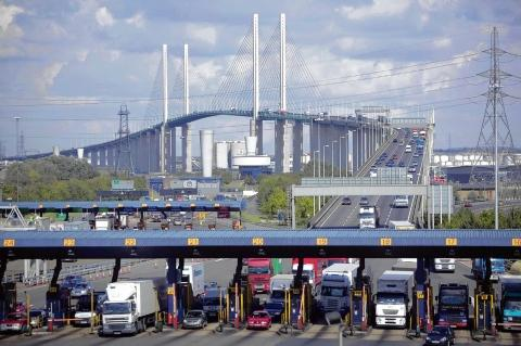 Notorious – traffic toll booths at the Dartford Crossing