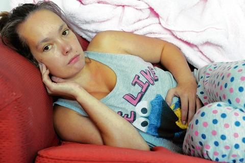 In pain – but Chloe Chesterton won't return for operation to remove her spleen