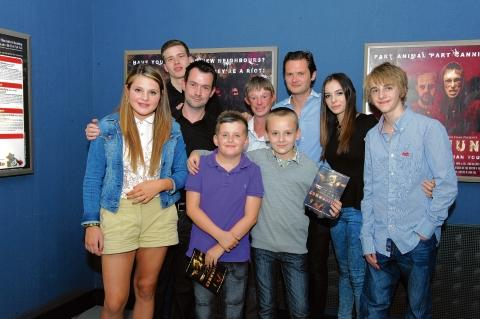 Excited – cast members gather together at the film premiere at Basildon's Empire cinema
