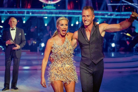 Denise Van Outen and her Strictly Come Dancing partner James Jordan