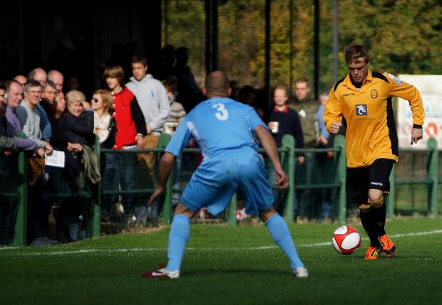 Kris Newby in action for East Thurrock.