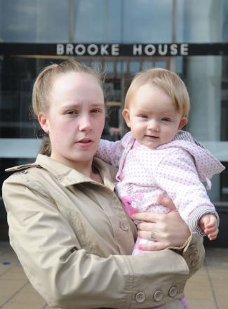 Josie Cook and daughter Darcie-May Thompson outside Brooke House
