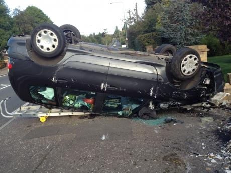 Man has lucky escape after head on crash