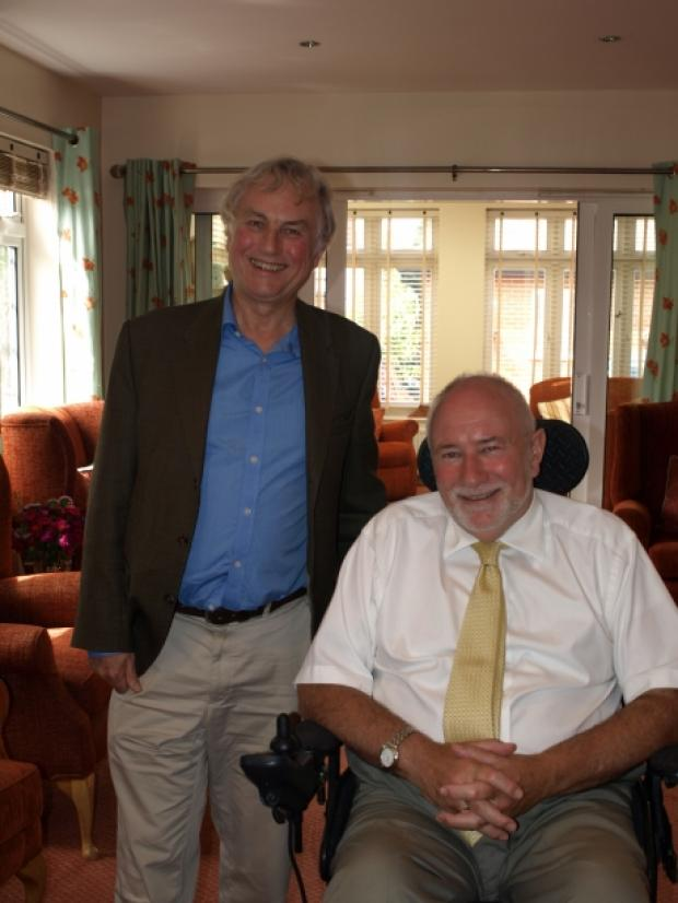 Richard Chell meets Richard Dawkins at Fair Havens Hospice