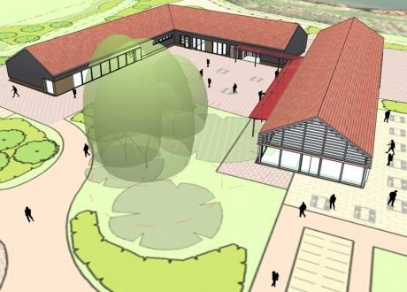 Olympic legacy - artist impressions of what the community hub will look like.