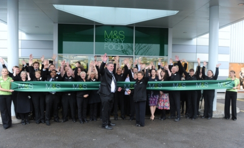 Crowds gather for opening of Basildon's new M&S Simply Food