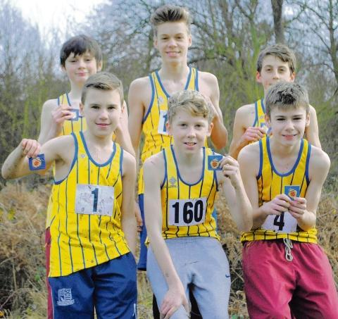 Basildon AC's winning under-15 and under-13 boys teams