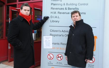 Councillors John Scarola and Gavin Callaghan are not impressed at Basildon Council's move