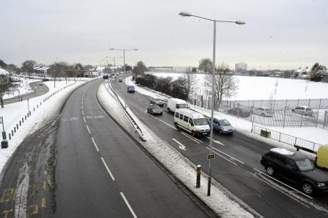 All clear - The A127 today free of snow