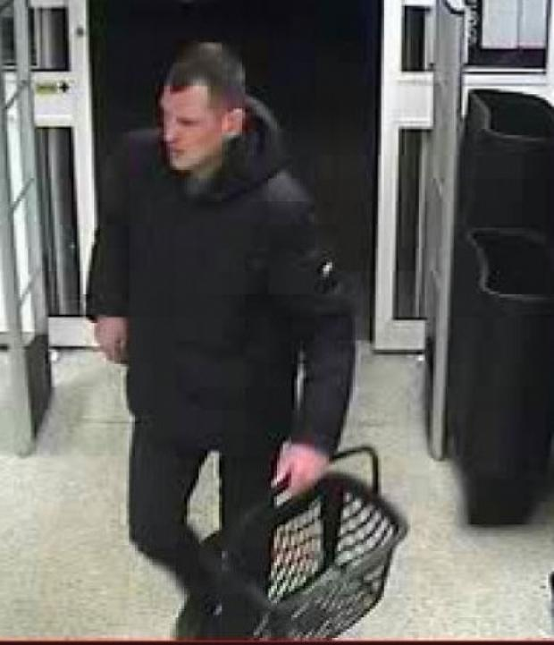 Police have released this CCTV image from Wickford Co-op