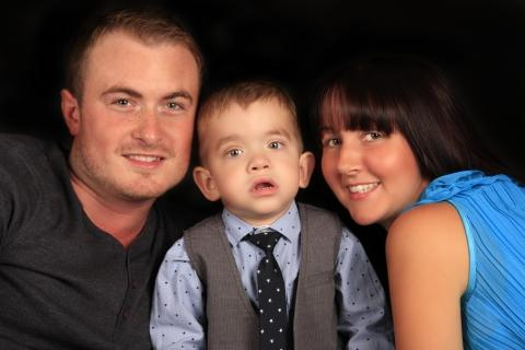 Faye and Carl Axford, pictured with son Callum, are set to meet Prime Minister's wife Samantha Cameron.
