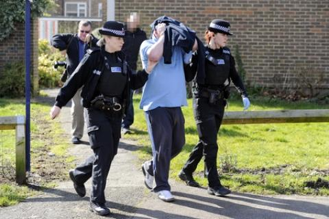 Police raided the flat of a 43 year-old man in The Knares, Basildon, as part of a benefit fraud crackdown.