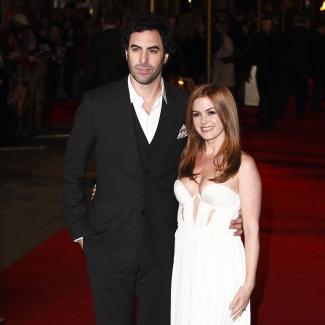 Sasha Baron-Cohen with wife and Grimsby co-star Isla Fisher