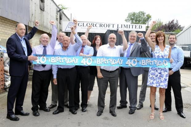 Staff celebrate Glorcorft's birthday