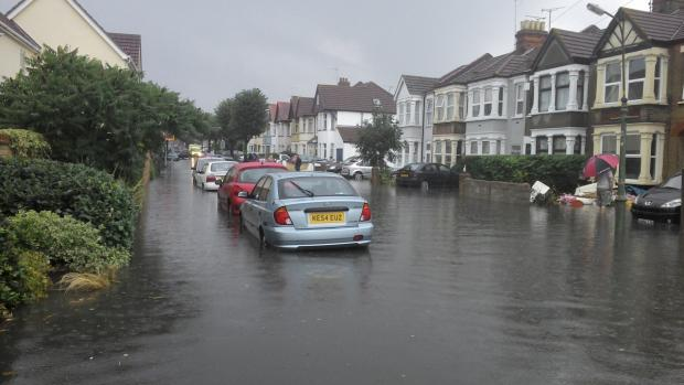 Basildon Recorder: vic road 2 flooding.jpg