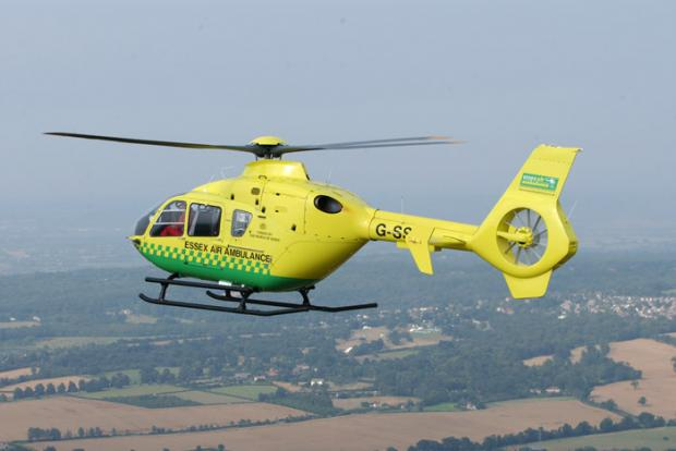 Basildon Recorder: Air ambulance called to collapsed man in town centre