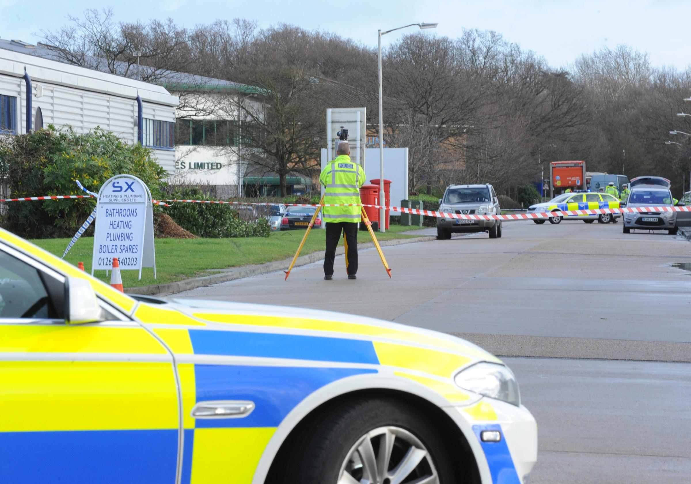 Emergency services at scene of serious crash in basildon