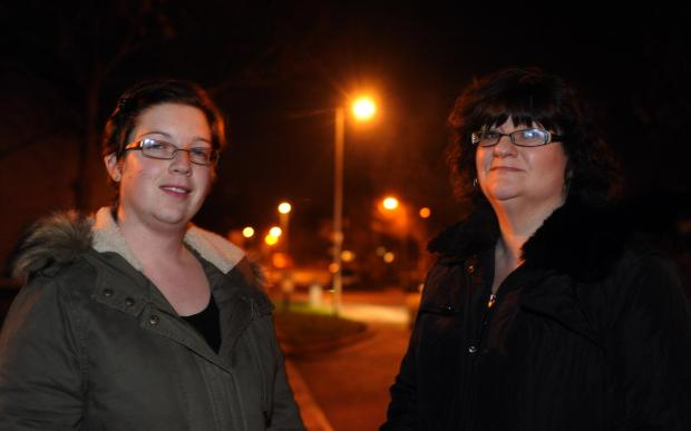 Basildon Recorder: County councillor Melissa McGeorge and reisdent Jenny Thorpe in the Langdon Hills estate, where lights will stay on
