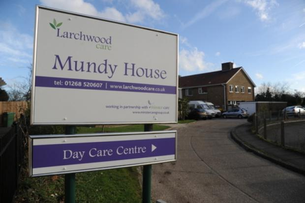 Basildon Recorder: Closing – Larchwood Care's sign outside Mundy House, with a separate sign for the care centre