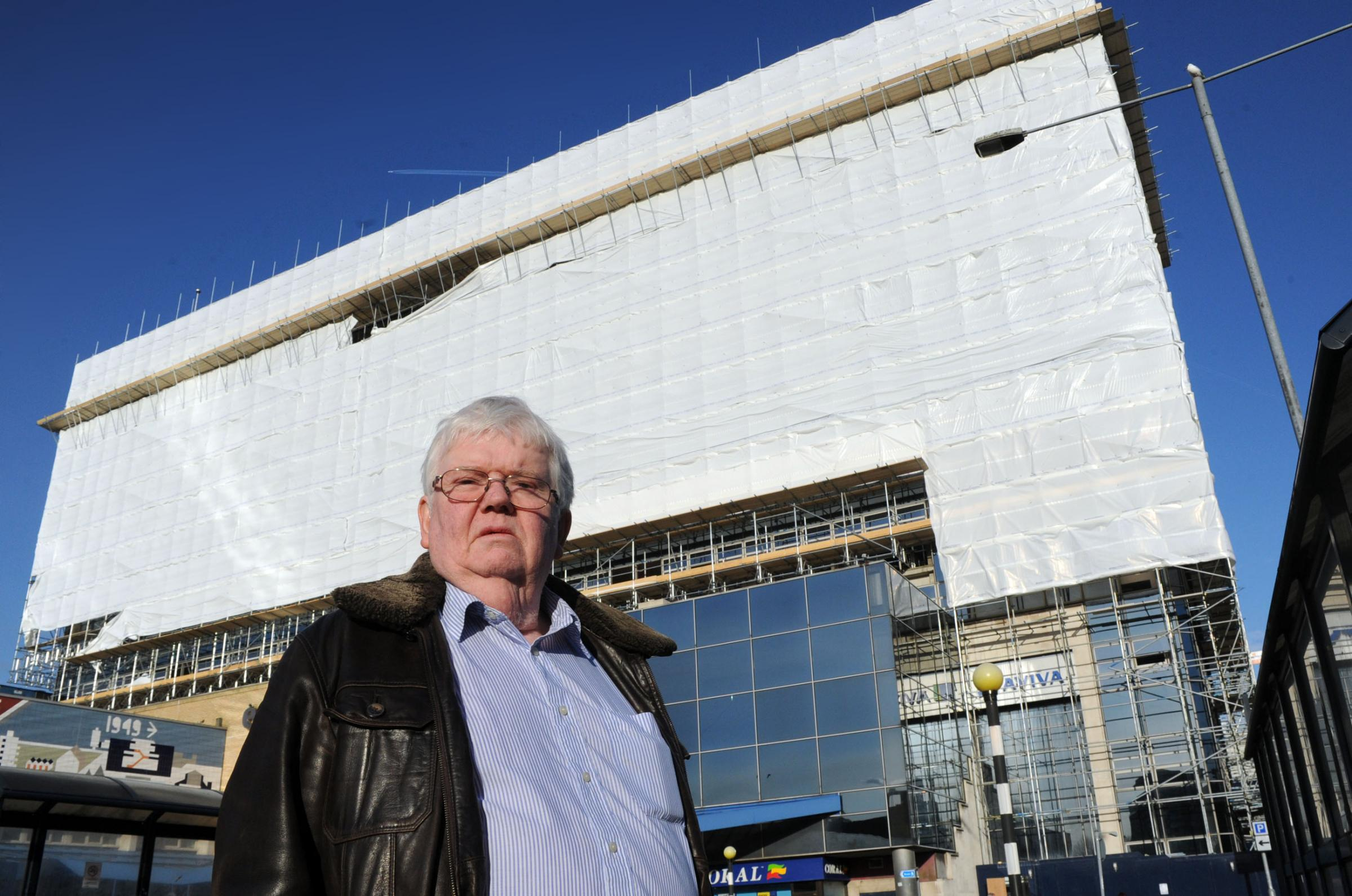 Phil Rackley outside the Aviva building