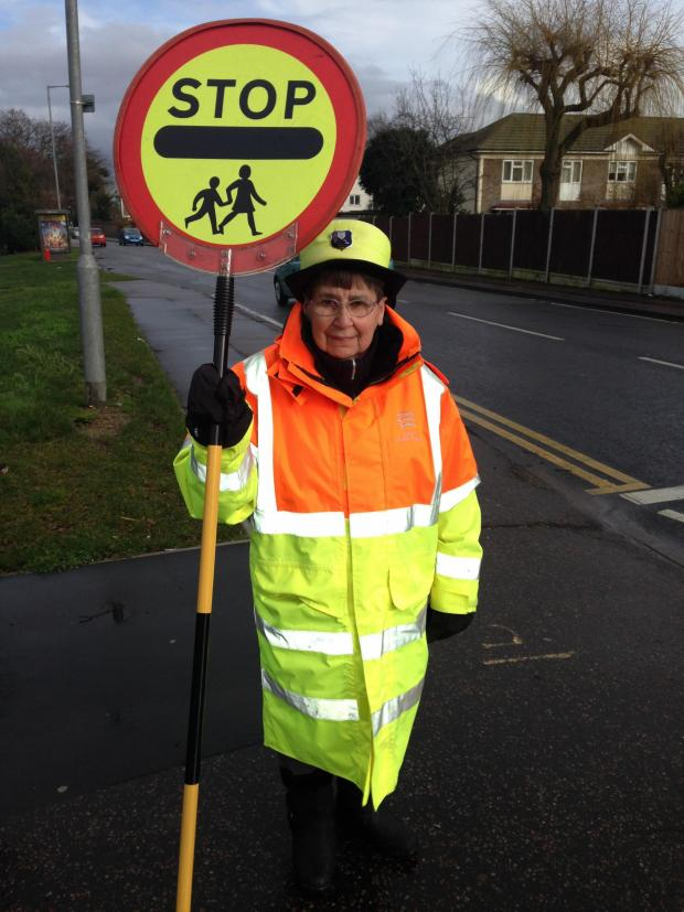 Basildon Recorder: A lollipop lady at Cherry Tree Primary School