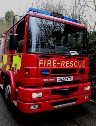 Two men suffer burns trying to fight fire in Dunton