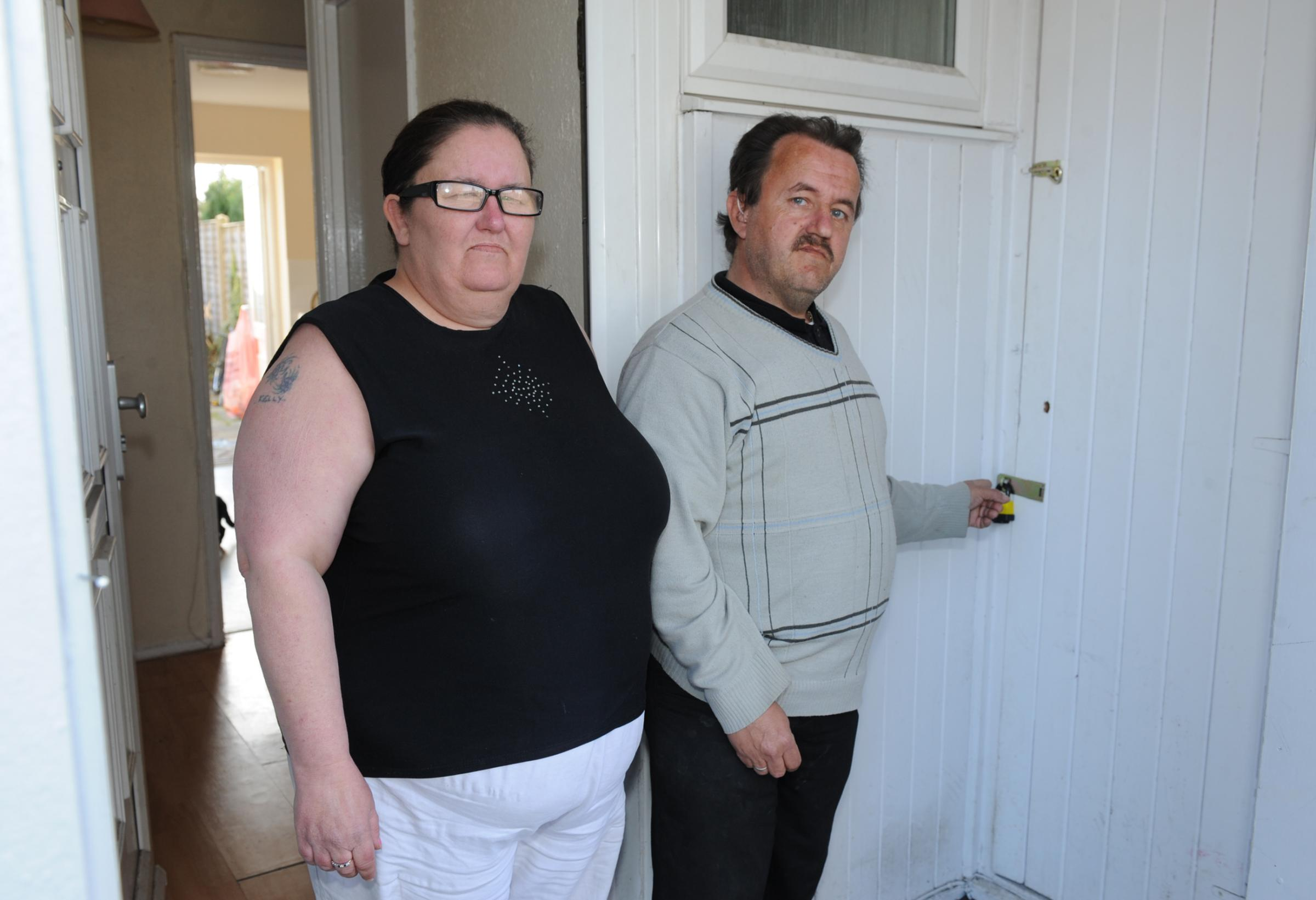 Kelly and George Phillips had their garden shed broken into