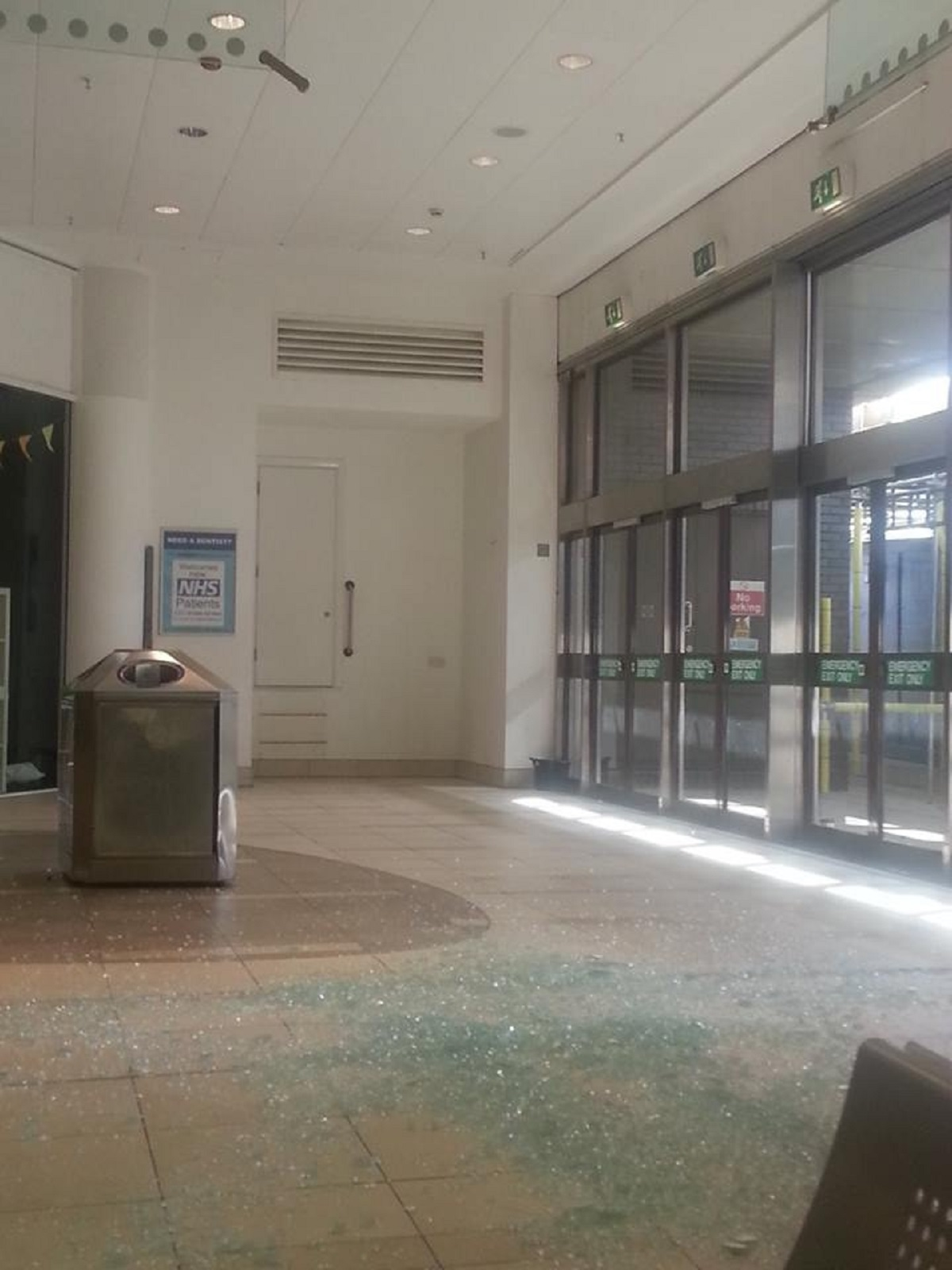 Shock - the broken glass on the Eastgate floor
