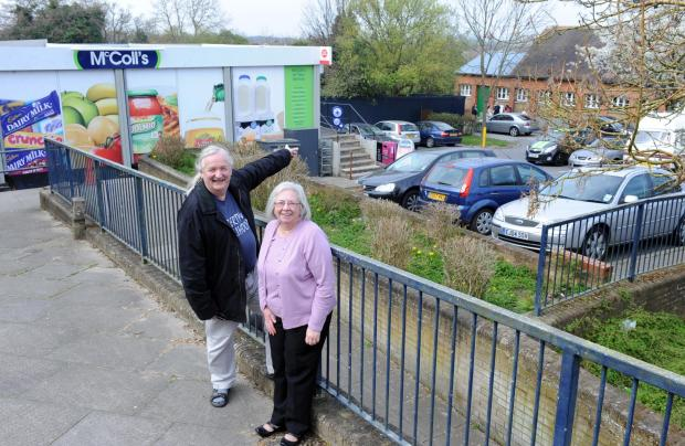 Basildon Recorder: Sandra and Stephen Hillier outside the Triangle Shops