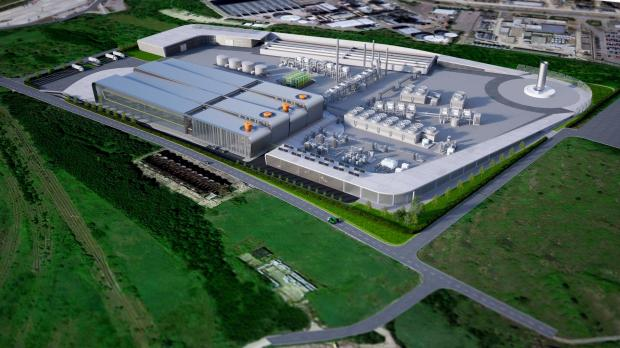 Basildon Recorder: An artists' impression of the proposed waste-to-jet fuel centre