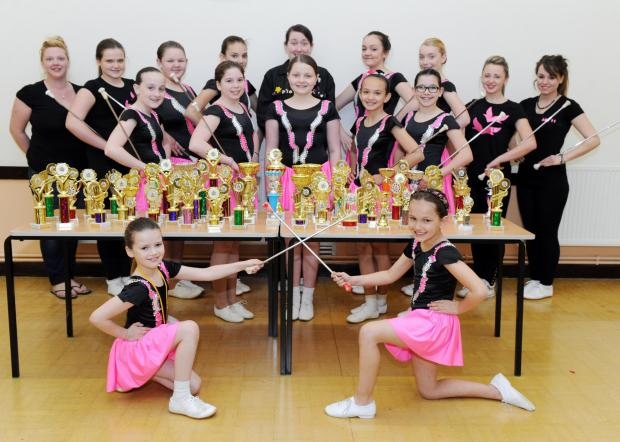 Basildon Recorder: Victorious – the Laindon Suzettes proudly show off their haul of trophies