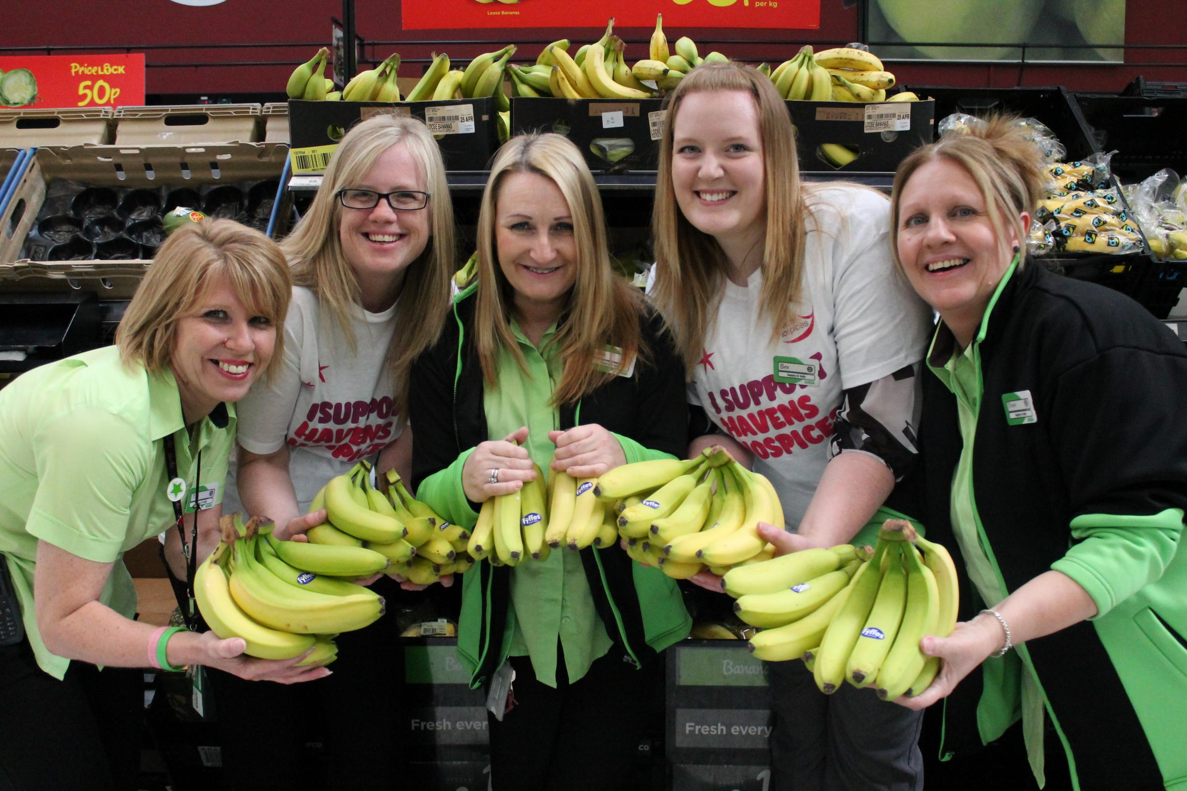 Have a banana! Our 2,000 pressies for hospice's runners