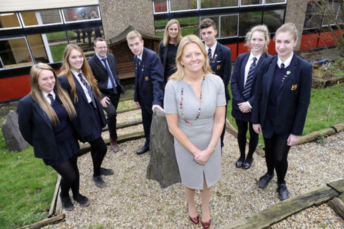 Jan Atkinson – the head of Deanes School has unveiled plans to hold sports apprenticeships at the Thundersley school,