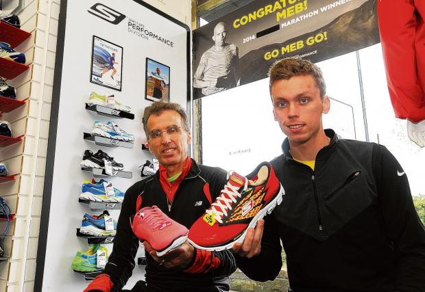 Basildon Recorder: Mike and Paul Whittaker with the Skechers trainers