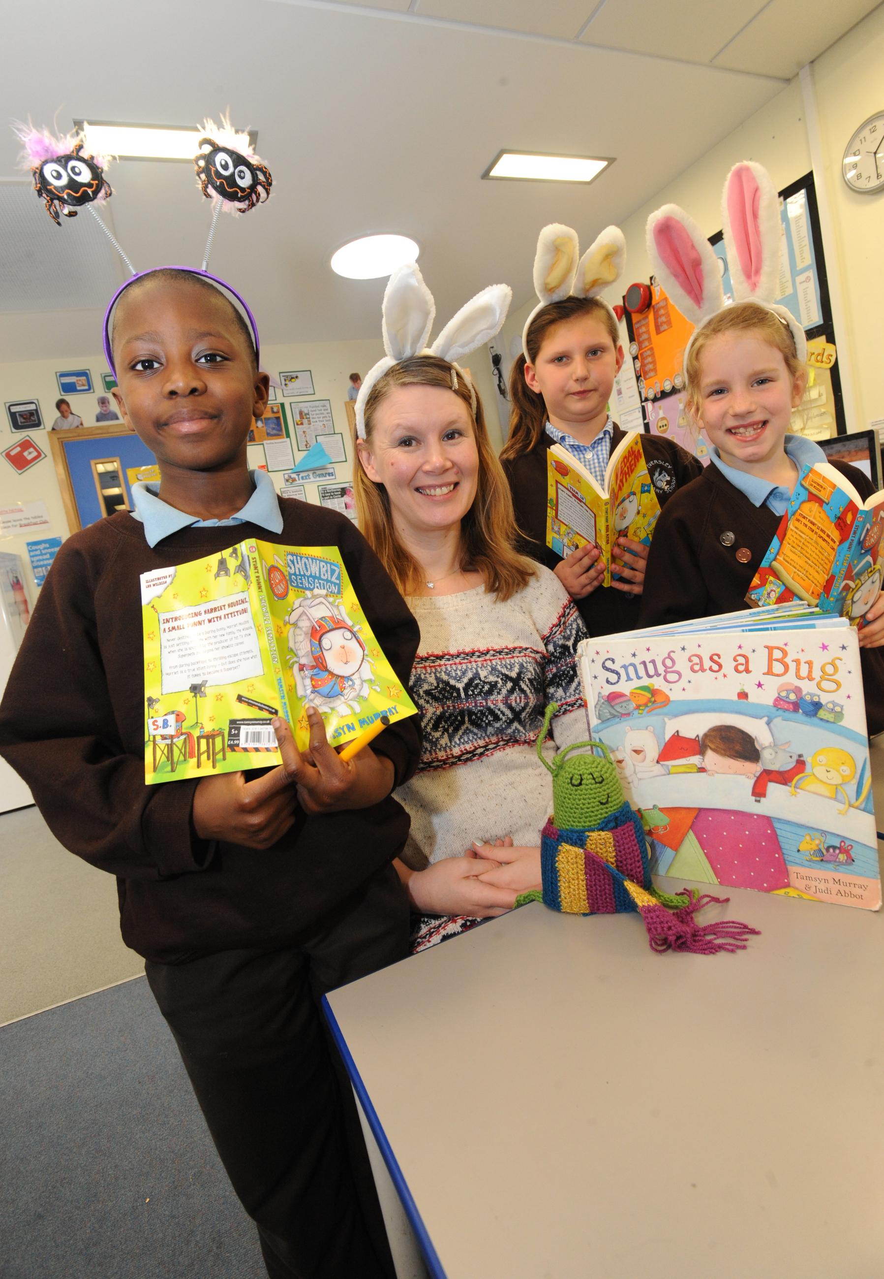Youngsters taught the joy of reading by author